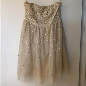 Strapless homecoming/cocktail dress